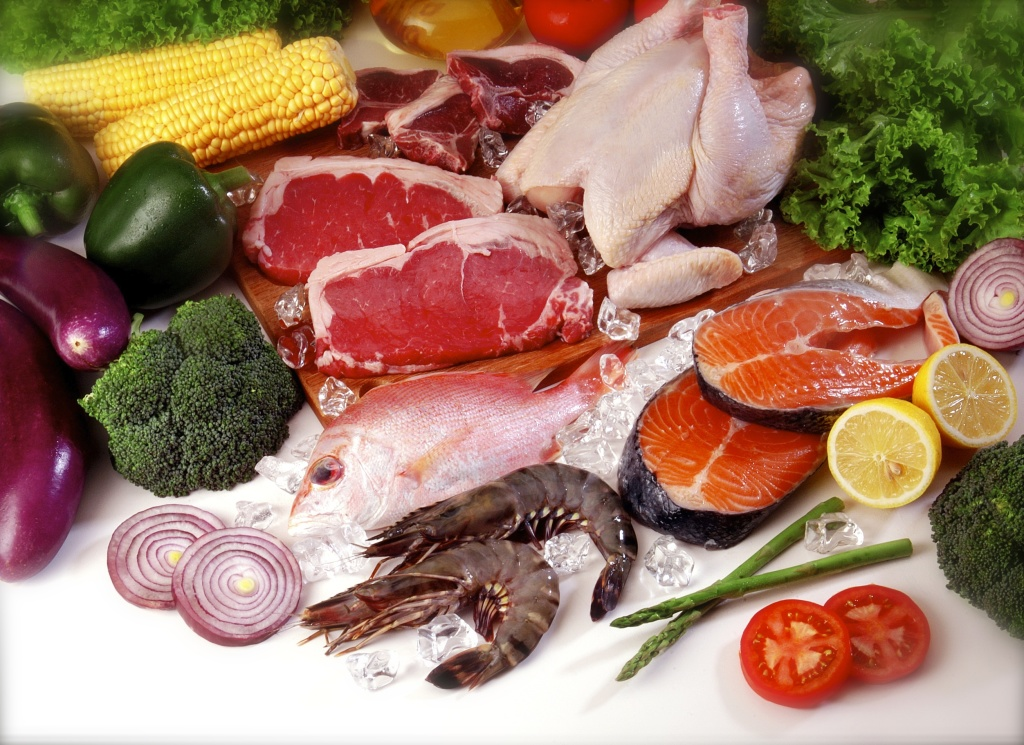 meat-fruit-vegetables